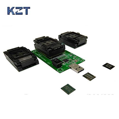 Hynix Chip (Gimax EMMC153 169 EMCP162 186 EMCP221 Series Chip Socket Tester Programmer Reader USB Port Data Recovery Electronic DIY Kit Telefon Tool, GMX-7EE530E76F4FD23295EB9F4E63F2CBA2, All 3 socket USB)
