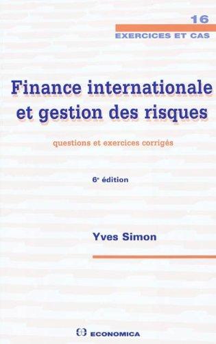 Finance internationale et gestion des risques