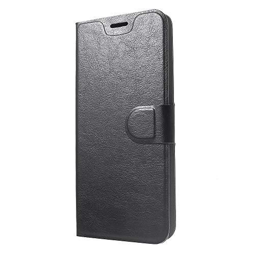 jbTec® Flip Case Handy-Hülle Book #M53 zu Sony Xperia XA1 Ultra/Xperia XA2 Plus/Xperia XZ3 - Handytasche Schutzhülle Cover Bookstyle Booklet, Farbe:Schwarz, Modell:Sony Xperia XZ3
