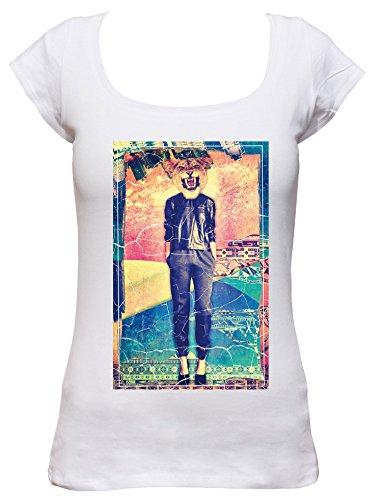 Boat Kostüm Love - Lioness Cooles Party Damen Boat Neck T-Shirt_weiss_M