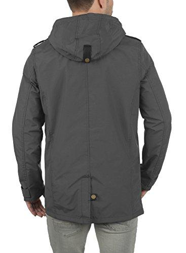 REDEFINED REBEL Moe Herren Übergangsjacke mit Kapuze aus hochwertiger Materialqualität Antracit Grey