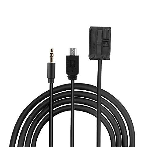 Eximtrade 3,5mm AUX et Micro USB Connecteur Audio MP3 Musique Câble de Charge pour Ford Autoradio 6000CD Visteon