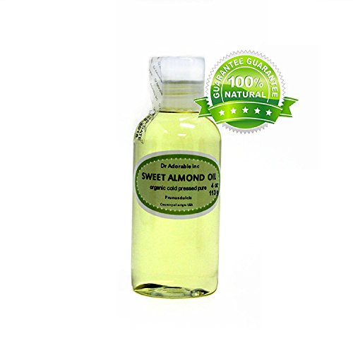 Organic Pure Carrier Oils Cold Pressed 4 oz (Sweet Almond Oil)