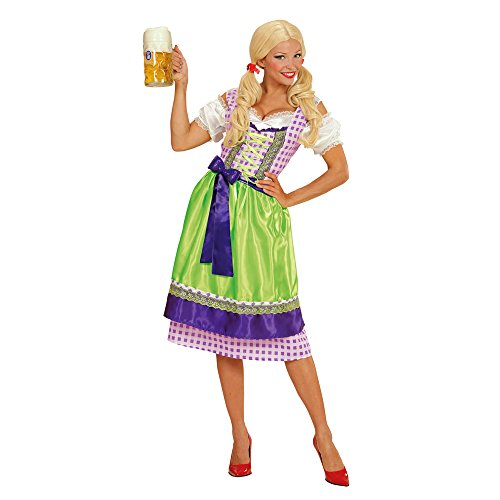 Imagen de widmann 00114–adultos disfraz tirolesa, vestido con delantal, color morado alternativa
