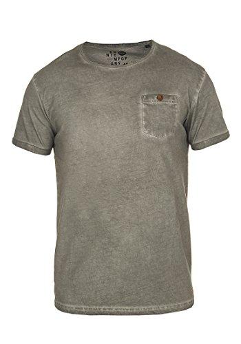 !Solid Teil Herren T-Shirt Kurzarm Shirt mit Rundhalsausschnitt Aus 100% Baumwolle, Größe:L, Farbe:Mid Grey (2842) (Teil)