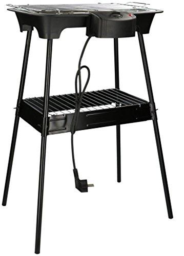 Deluxe Grill-tool (Cuisinier 02822 Cuisiner Elektro Standgrill 220-240V H 69cm Thermostat Barbecue Garten Balkon, Mehrfarbig)