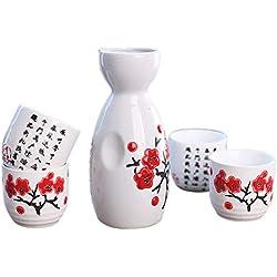 Tazas pintadas a mano. 5pieza japonesas de cerámica
