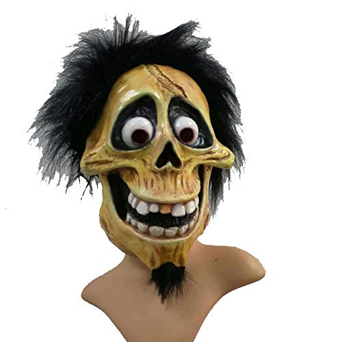 Kostüm Coco Clown - PENGWH Escala Latex Devil Headgear Filmrequisiten Prom Party Maske Coco