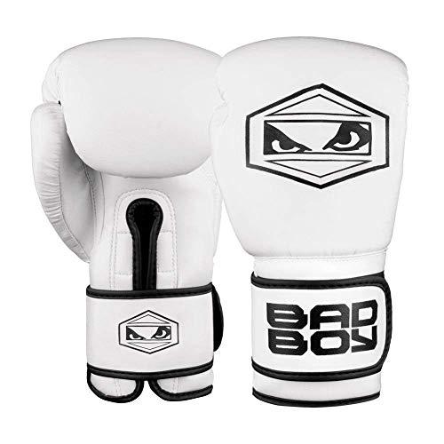 Bad Boy Strike Gants de Boxe Mixte Adulte, Blanc, Taille 16 oz