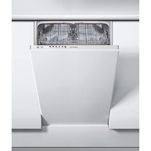 417NBtmpKkL. SS500  - INDESIT DSIE2B10 10 Place Slimline Fully Integrated Dishwasher with Quick Wash - White