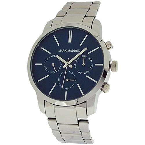 Mark Maddox Gents Multifunction Blue Dial & Bracelet Strap Watch HM0006-37