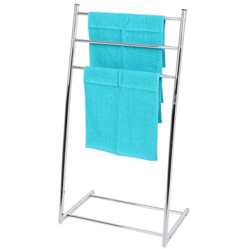 VARILANDO® verchromter Handtuchhalter aus Metall Handtuch-Ständer Handtuch-Halter