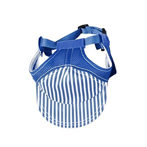 (MagiDeal Hundehut Sunbonnet Baseball Cap Hut für Outdoor Sport Haustier Hund Katze Kostüme - Blau S)