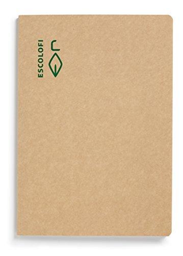 Escolofi 130027000 - Libreta de papel reciclado ecológico, A4
