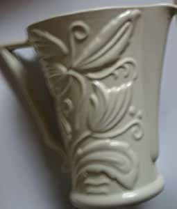 Very Early Paramount Pottery Staffordshire Potteries Milk Jug Art Deco White Design