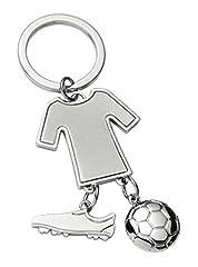 Idea Regalo - Ten Portachiavi calcio scarpa pallone maglietta - cod. EL2414 - Lun.10,5 cm - Lar.4 cm - Alt.1 cm by Varotto & Co.