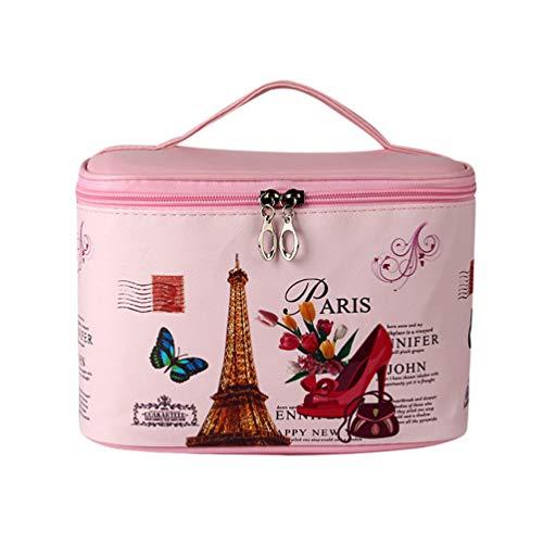 Sentaoa Portable Voyage Grande Sac de Cosmétiques Organisateur de Stockage Portable Pochettes Maquillage Trousses de Toilette (23 * 16.5 * 14cm,Style 18)