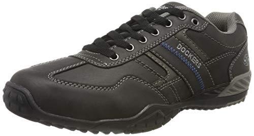 Dockers by Gerli Herren 44BN009 Sneaker, Schwarz (Schwarz/Grau 650120), 42 EU