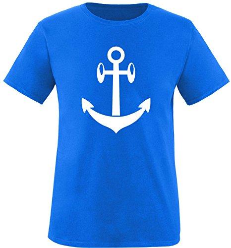 EZYshirt® Anker Maritim Herren Rundhals T-Shirt Royal/Weiß