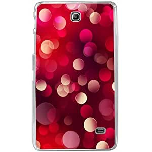 Casotec 3D Circles Design 2D Hard Back Case Cover for Samsung Galaxy Tab 4 7 inch - Clear