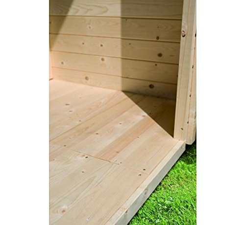 Fußboden 19mm natur WoodFeeling Gartenhaus Sockelmaß 460x310cm