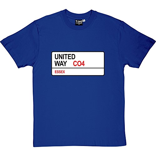 colchester-united-united-way-co4-road-sign-royal-blue-mens-t-shirt-extra-large