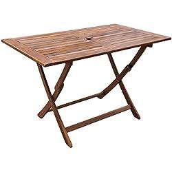 vidaXL Table de Salle à Manger Pliable Extérieur Bois d'Acacia Jardin Terrasse