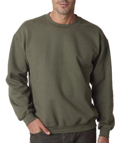 Gildan Men's Heavy Blend Crewneck Sweatshirt - Medium - Military Green - Gildan Crewneck Sweatshirt