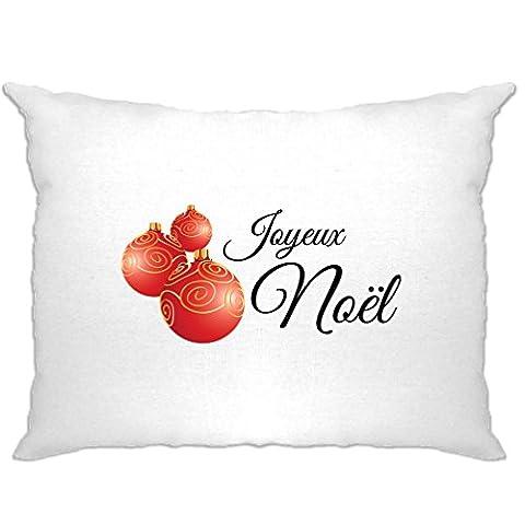 Joyeux Noel Printed Slogan Zitat Design Premium-Qualität Neuheit Kissenbezuge (Festliche Zitate Für Weihnachten)