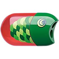Faber-Castell 183525 pencil sharpener - pencil sharpeners (Manual pencil sharpener, green, Red)