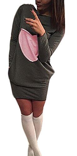 Kleider Damen Wickelkleider Kurz Damen Langarm Schnittmuster Vintage ...