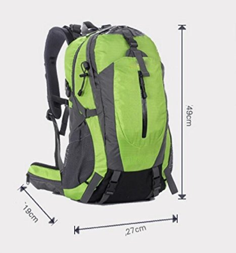 LQABW Spalla Di Svago All'aperto Borsa Da Viaggio Impermeabile Traspirante Alpinismo Durevole Sport Zaino 50L,Green Green