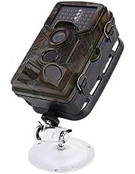 kinshops Wild Appareil photo Caméra de chasse chasse Avion Caméra de surveillance 2.4inch 12mégapixels vision nocturne infrarouge cas Embout de Photo 1080p HD 3zones 120° Grand Angle Vision nocturne pour Game & Chasse Hunting Camera