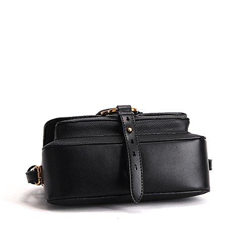 SUNROLAN Damen Tasche Leder Umhängetasche Lederhandtasche Mental Trends Fashion 23x8x16.5cm (L xB x H) Grün Schwarz