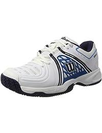 Wilson WRS323450E135, Zapatillas de Tenis Hombre, Blanco (White / Methyl Blue / Navy), 50 EU