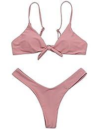 CHZY Sexy fendues léopard bretelles maillot de bain bikini maillot de bain , pink , m