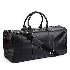 BACCINI Reisetasche TOBY - Weekender XXL - Sporttasche echt Leder schwarz