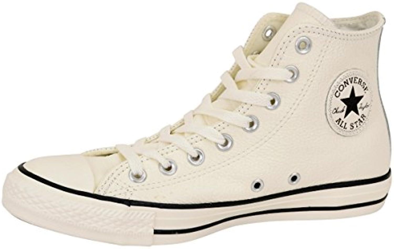 Converse Chuck Taylor All Star Hi Egret/Egret/Schwarz Leder