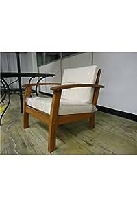 Peru hardwood armchair with cushions