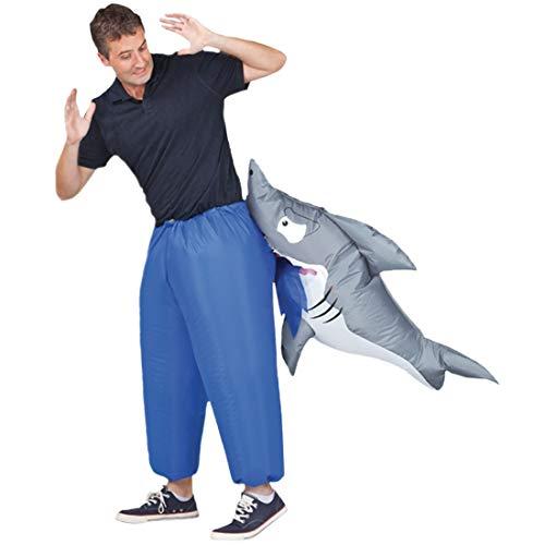 Original Cup Aufblasbare Hai Kostüm Neu - Premium Quality - Kostüm für Erwachsene Größe Polyester Beständig - Mit Inflation ()