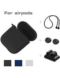 Lanspo 5 en 1 para Apple Airpods Wireless Headset/Auriculares de Silicona Orejeras + Lanyard