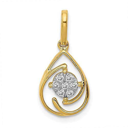 form, 14 kt Gold, polierter Diamant ()