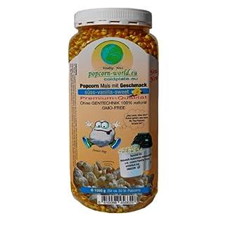 NEU 1500g Premium-Popcorn-Mais. Mit Geschmack SÜSS-VANILLA ohne Gentechnik - Speziell für Heißluftautomaten entwickelt - Zubereitung ohne Fett und Zucker