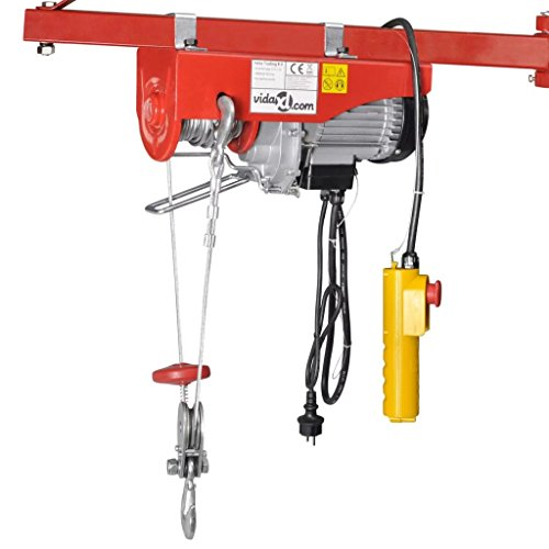 vidaXL Palan électrique 1000 W 300/600 kg Palan treuils électrique Construction robuste