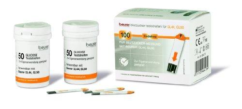Beurer Gl 44 Amp Gl 50 Glucose Test Strips Pack Of 100 At