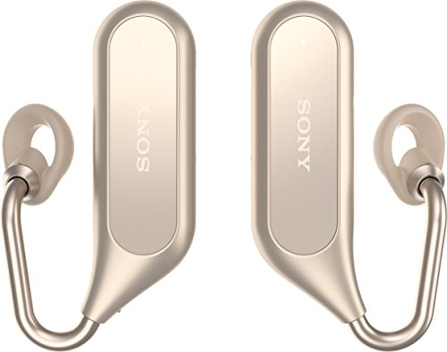 Sony Bluetooth Stereo Kopfhörer Xperia Ear Duo XEA20 mit Ladeschale und Open-Ear Technologie, Gold Gold Bluetooth