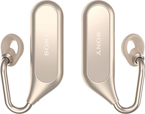 Sony Bluetooth Stereo Kopfhörer Xperia Ear Duo XEA20 mit Ladeschale und Open-Ear Technologie, Gold (Sony Bluetooth Stereo)