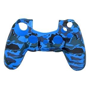 VORCOOL Silikon Schutzhülle Gehäuse für PS4 Controller, Camouflage Blau