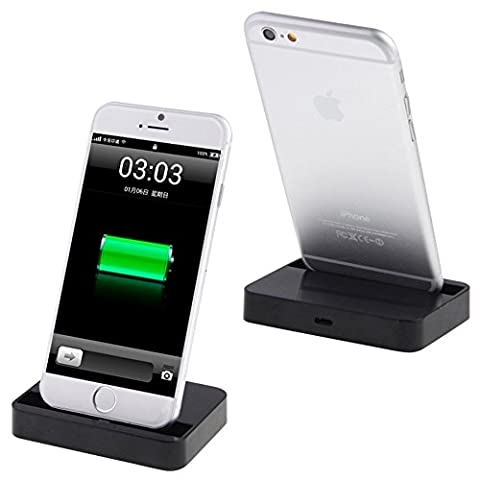 Apple Charging Dock, Fone-Stuff® - Desktop Charge and Sync Cradle Mount Stand for iPhone 6s, 6, 6s Plus & 6 Plus in Black