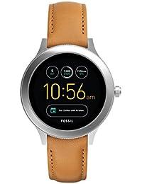 Fossil Damen Smartwatch Q Venture 3. Generation - Leder - Braun / Moderne Smartwatch mit Lederarmband / Für Android & iOS